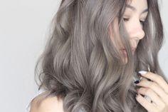 Dark Brown to Ash Grey Hair