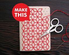 DIY Geometric Pocket Notebook Embroidery Kit Set !