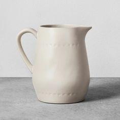 Stoneware Pitcher - Cream - Hearth & Hand™ with Magnolia : Target
