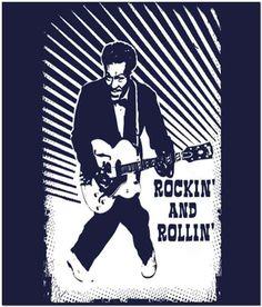 Rockin And Rollin Chuck Berry T-Shirt https://ballzbeatz.com/product/rockin-and-rollin-chuck-berry-t-shirt/