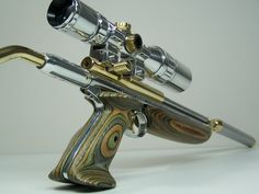 Heavily modified Crosman air pistol. Reminds me of a Jeepney.