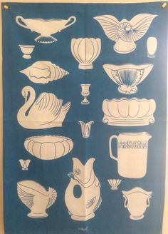 Crown Lynn Tea Towel by Mint Kiwiana, Pottery Marks, Body Tattoos, Kitchen Inspiration, Tea Towels, New Zealand, Dinnerware, 2d, Spoon
