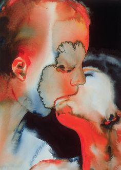 aquaticwonder:  Graham Dean, The Kiss (1988)