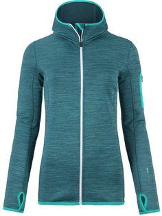 535b852f017a6a Ortovox Merino Melange Hooded Fleece Jacket - Women s