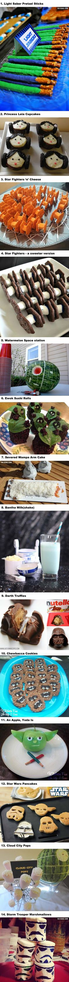 14 Star Wars Snacks To Prepare On Star Wars Day! (May The Fourth)