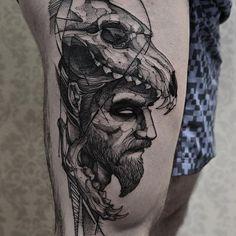 Wolf skull  Muito obrigado André Feito na @inkonik_tattoo_studio  #electricink