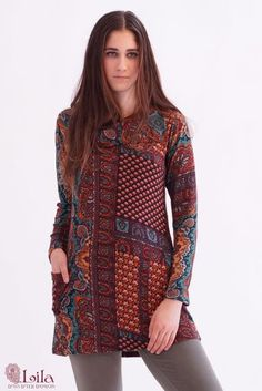 Unique tunic, warm and beautiful. Comes in all sizes- big and small. Many colors. Visit web site: http://www.lilain.co.il/