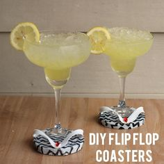 DIY Tutorial: DIY Accessories / one dollar flip flop coasters - Bead