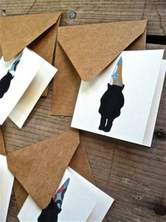 Mini Silhouette Gnome Blank Greeting Cards Gnomes, Dapper, Artsy, Greeting Cards, Silhouette, Make It Yourself, Mini, How To Make, Silhouettes