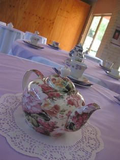 Tables from our friends High Tea Wedding. A wonderful day!!!