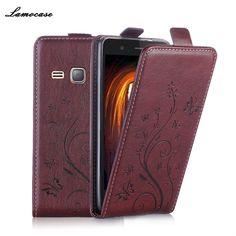 Luxury Leather Case for Samsung J1 2016 Case for Samsung Galaxy J1 2016 J120 J120F SM-J120F Flip Cover Wallet Card Slot Bag