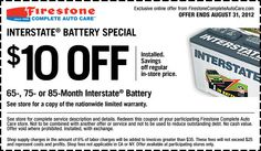 You can get Firestone coupons for $9.99 spring car care ...