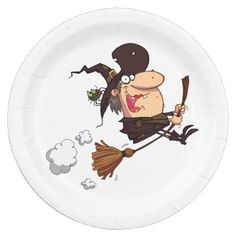 #party - #Calling All Witches Halloween Party Paper Plates