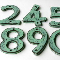 Modern House Numbers  Set of 3  Outdoor Letters  by BackBayPottery, $36.00