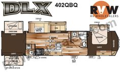 2016 Wildwood DLX 402QBQ Park Trailer by Forest River Stock# 055875 Inventory - The Original RVWholesalers