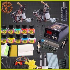 Professional Tattoo Kit Body Tattoo Art 2 Tatto Gun Machine with Grips Needles 10 Color Ink LCD Black Power Units Body Art Sets Professional Tattoo Kits, Power Unit, Tattoo Apprentice, Black Power, Body Tattoos, Tattoo Art, Body Art, Health And Beauty, Gun