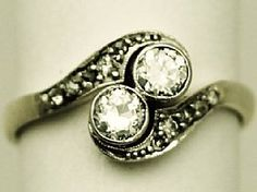 A fine and impressive antique 0.66 carat diamond, 18 carat yellow gold and platinum twist ring; part of our antique jewellery and estate jewelry collections