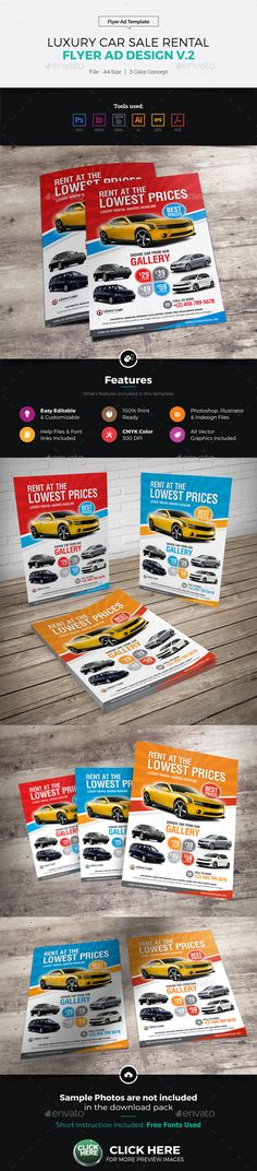 Luxury Car Sale Rental Flyer Ad V  Template Ads And Creative