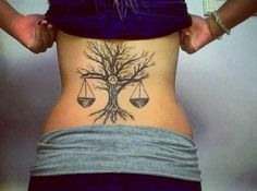 11 libra and tree back http://hative.com/cool-libra-tattoo-designs/