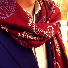 In love with Paisley...Beatifully handmade Wool & Silk scarf.