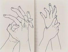 искусство, рисунок, руки
