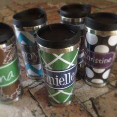 Stainless steel travel mugs