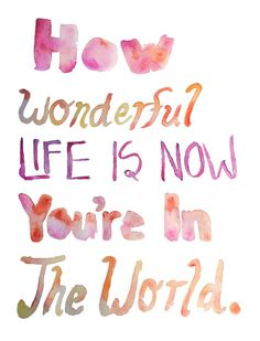 """""""...i hope you don't mind that i put down in words, how wonderful life is now that you're in the world""""  Elton <3"""