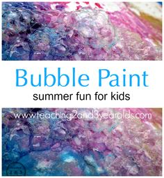 painting with bubbles -- you just know this is going to be fun
