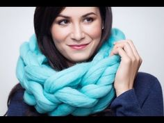 How to knit a cowl scarf with no needles. BeCozi - YouTube
