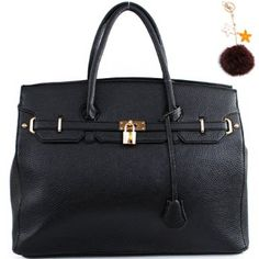 "Click Here and Buy it On Amazon.com $40.99 Amazon.com: Designer Inspired ""Hermes Birkin -Similar Style"" Structured London Office Tote Sathcel Handbag Purse (Large Size) with Key Chain in Black: Clothing"