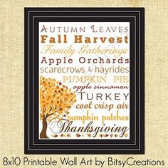 Thanksgiving Subway art and more free printables