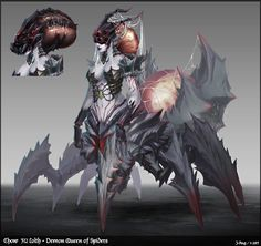 Lolth - Demon Queen of Spiders   / http://www.conceptart.org/forums/showthread.php/264181-CHoW-312-FINALS-Lolth-Demon-Queen-of-Spiders