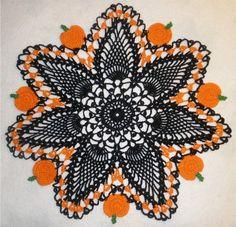 HALLOWEEN CROCHET BLACK PUMPKIN and PINEAPPLE by DesignsByDoodles