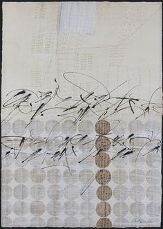 EAST/WEST DICTIONARY - Brody Neuenschwander [2010]    Collage of rice paper and antique documents on Rives BFK printmaking paper with whitewash, Chinese ink and gouache - 75 x 75 cm