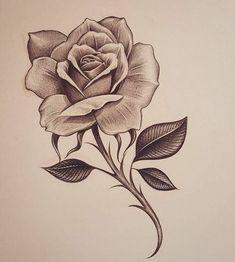 Neck Drawing, Rose Drawing Tattoo, Rose Tattoo Forearm, Rose Tattoos, Flower Tattoos, Tattoo Drawings, Pencil Drawings, Rose Drawings, Tattoo Neck