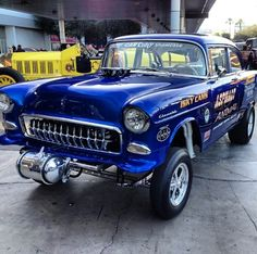 '55 Chevy Gasser with Corvette grille teeth!