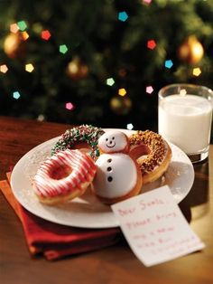 treats and a note for Santa