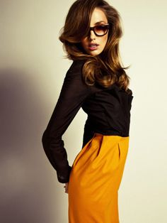 cute outfit and glasses!