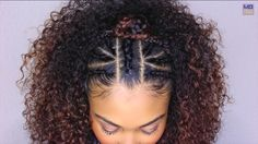 Top braids with curls