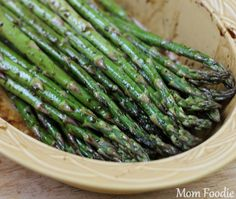 This Grilled Balsamic Asparagus recipe is one we enjoy year-round, though, of course we eat a lot more of it in the spring when asparagus is in peak season. Grilled Balsamic Asparagus: A Family Favorite To Grilled Veggies, Grilled Asparagus, Asparagus Recipe, Asparagus Spears, Ways To Cook Asparagus, Asparagus And Mushrooms, Grilling Recipes, Paleo Recipes, Cooking Recipes