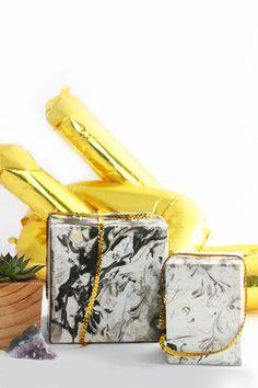 DIY Marbled Gift Box