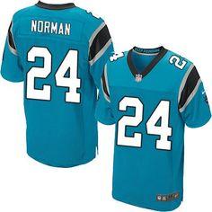 Nike Carolina Panthers 24 Josh Norman blue elite jerseys 24.5  7b2c79d81