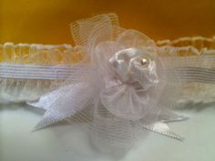 """Danity White Baby girl Headband. This is the perfect headband for a photo shoot or simply everyday wear.  Please specify the size you need at checkout, if not selected 15"""" will be sent. by RockinRobinsBling, $5.00"""