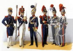 Photo d'actualité : Uniforms of french army National Guard 1819th...