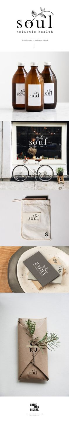 Sweet branding for Soul Holistic Health / logo design, package design, signage, print design