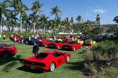 Cavallino Classic #Ferrari show at The #Breakers. Wait, there's more! #The Palm Beaches #Florida #cars #luxury
