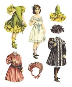 Victorian paper doll by marisa