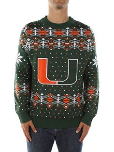 Men's University of Miami Sweater:  #Christmas #gifts click to get more information or how to purchase.