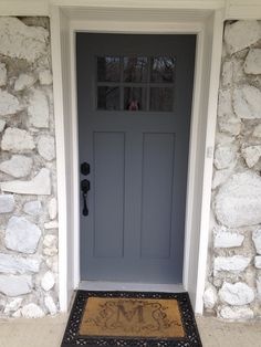 My new front door Antique Tin(Behr)                                                                                                                                                                                 More
