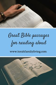 Great Bible passages for reading aloud - Torah Family Living Scripture Study, Bible Verses, Book Of Exodus, Gods Timing, Bible Activities, Book Study, Torah, Learn To Love, What To Read